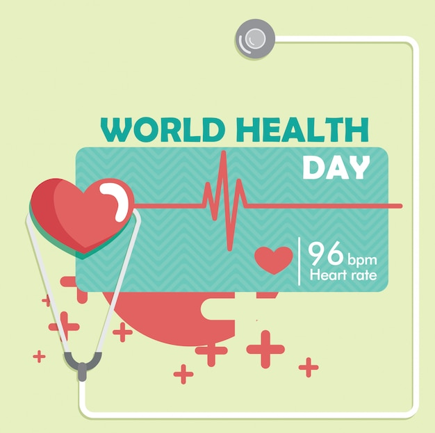 Vettore della priorità bassa di giorno di salute del mondo