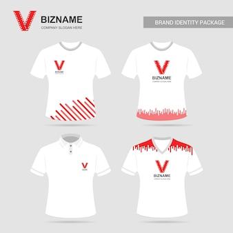 Vettore delle magliette di progettazione della società con il logo del video