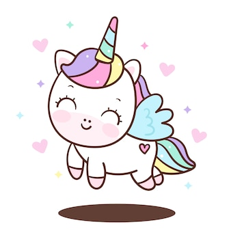 Vettore di angelo unicorno carino