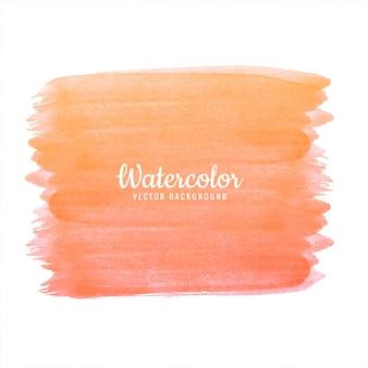 Vettore di arancione astratto colorato acquerello colpo