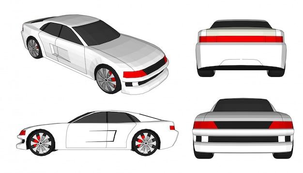 Vettore di auto 3d
