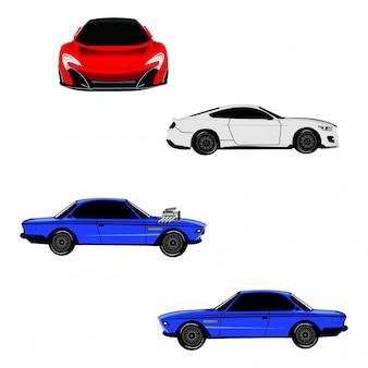 Vettore di auto sportiva