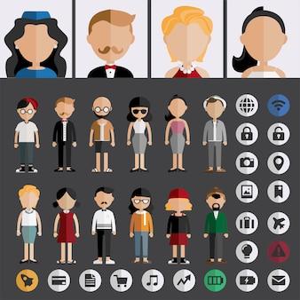 Vettore di avatar di persone