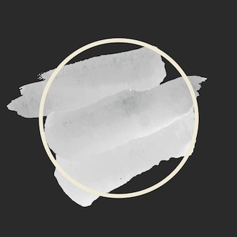 Vettore di bandiera dell'acquerello grigio tondo