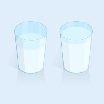 Vettore di bicchiere d'acqua isometrica