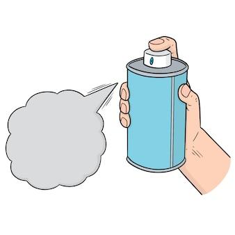 Vettore di bomboletta spray