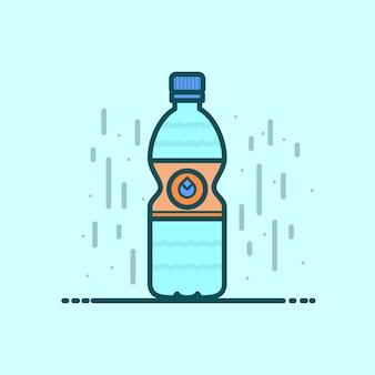 Vettore di bottiglia di acqua minerale