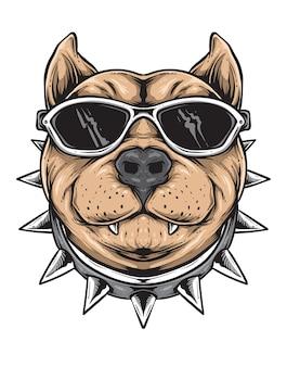 Vettore di cane funky