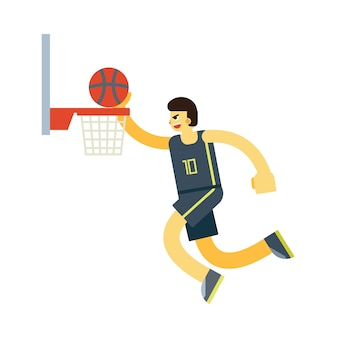 Vettore di carattere giocatore basket