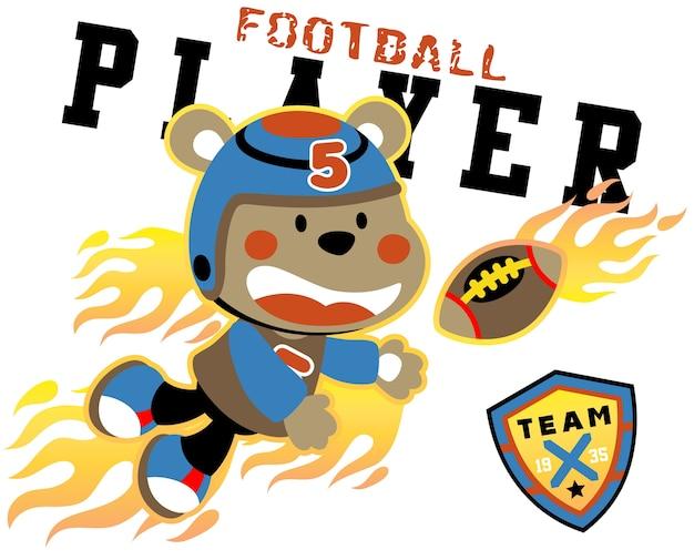 Vettore di cartone animato del calcio giocatore