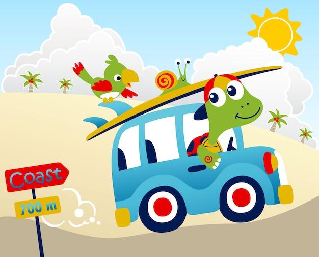 Vettore di cartone animato di vacanze estive