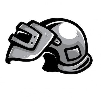 Vettore di casco da guerra