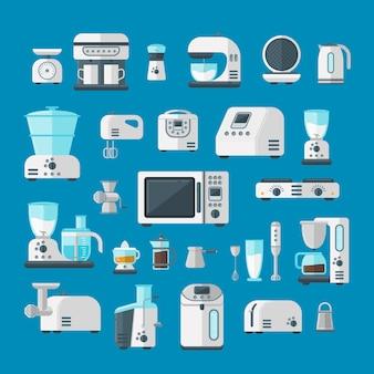 Vettore di concetto del modello di infographics degli elementi degli elettrodomestici di elettronica domestica.