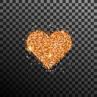 Vettore di cuore glitter oro