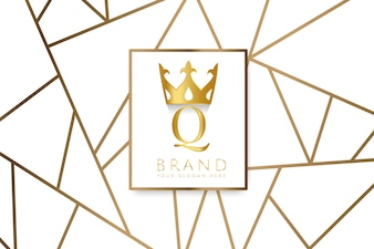 Vettore di design del marchio Premium Q