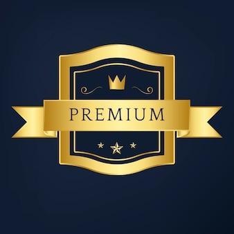 Vettore di design distintivo collezione premium