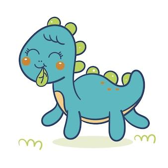 Vettore di dinosauri carino