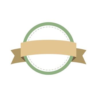 Vettore di disegno del distintivo del telaio pastello