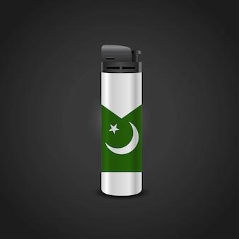 Vettore di disegno dell'accendino della bandiera del pakistan