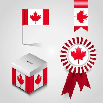 Vettore di disegno della bandiera del canada