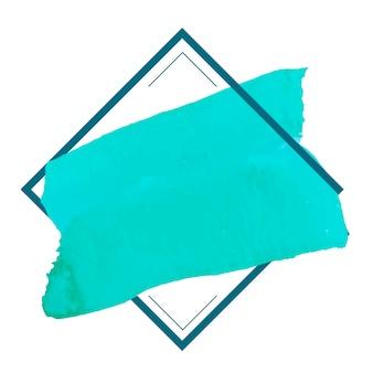 Vettore di disegno della bandiera dell'acquerello verde