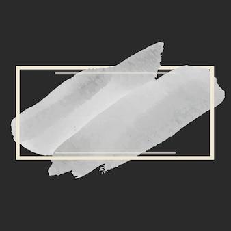Vettore di disegno della bandiera dell'acquerello grigio