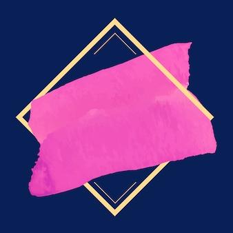 Vettore di disegno della bandiera dell'acquerello magenta