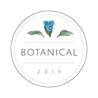 Vettore di disegno di logo botanico rotondo