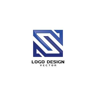 Vettore di disegno di logo lineare s