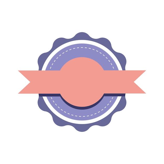 Vettore di disegno distintivo emblema pastello