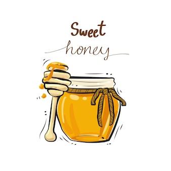 Vettore di dolce miele.