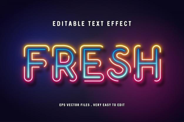 Vettore di effetto testo fresco