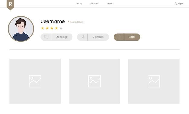 Vettore di elementi del sito web per il web design