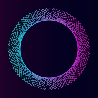 Vettore di elemento geometrico circolare astratto