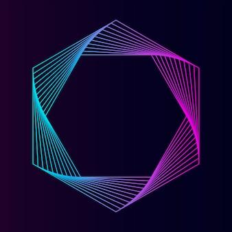 Vettore di elemento geometrico esagono astratta