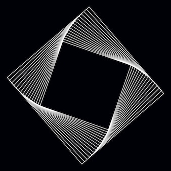 Vettore di elemento geometrico quadrato astratto