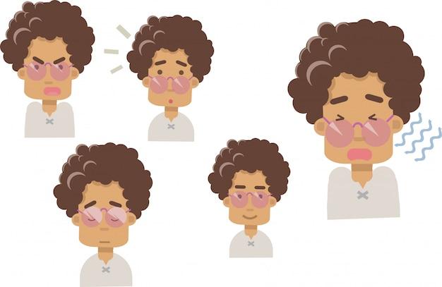 Vettore di emoji della nonna su un fondo bianco