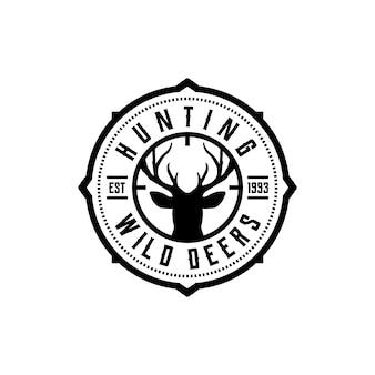 Vettore di etichette del club di caccia