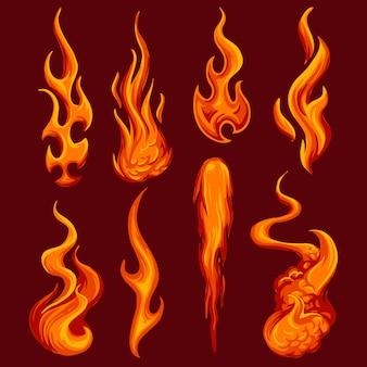 Vettore di fiamme