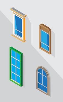 Vettore di finestra per la decorazione di grafica
