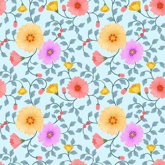 Vettore di fiori colorati senza soluzione di continuità per stampe moda, confezionamento, tessile, carta, carta da parati.