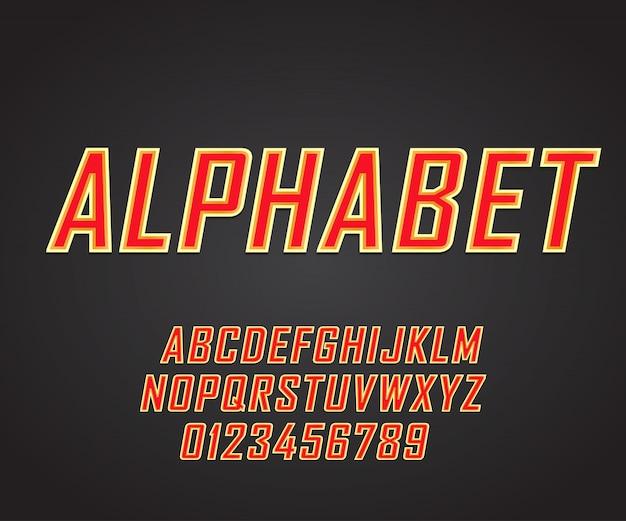 Vettore di font moderno grassetto e tipografia alfabeto