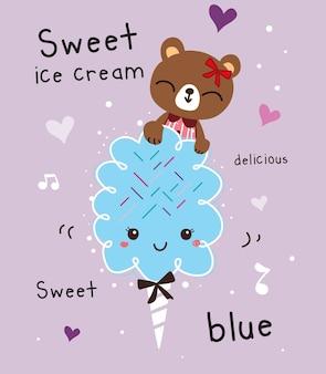 Vettore di gelato dolce