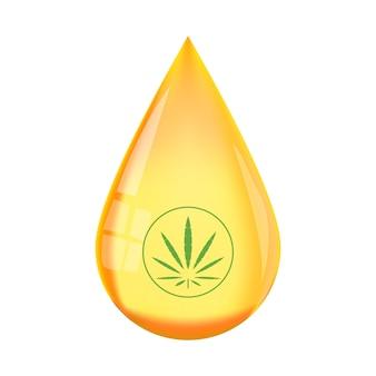 Vettore di goccia concentrato di tintura di olio di cbd liquido di canapa. benefici dell'olio di cbd, usi medici per l'olio di cbd