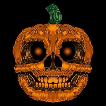 Vettore di halloween zucca spaventoso