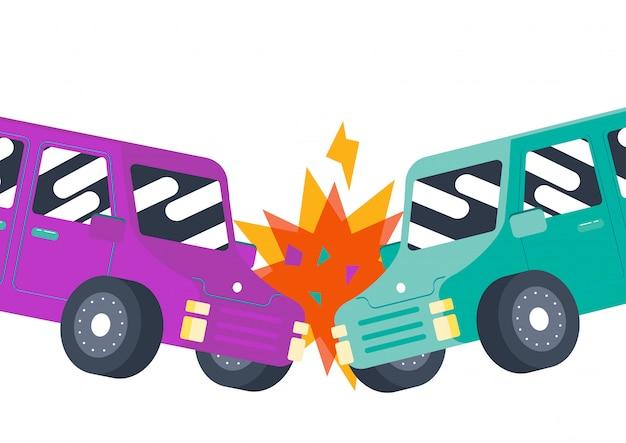 Vettore di incidente incidente auto carino paraurti