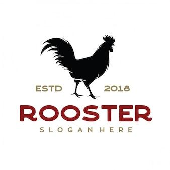 Vettore di ispirazione di logo dell'azienda agricola di pollo