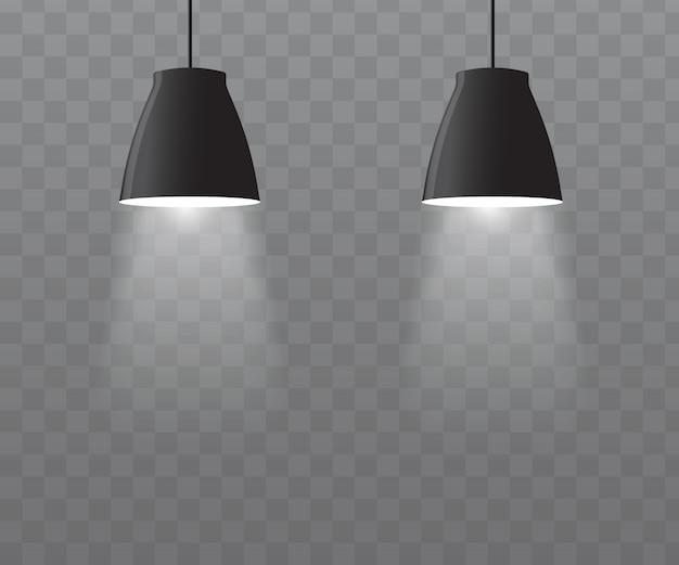 Vettore di lampade a soffitto.