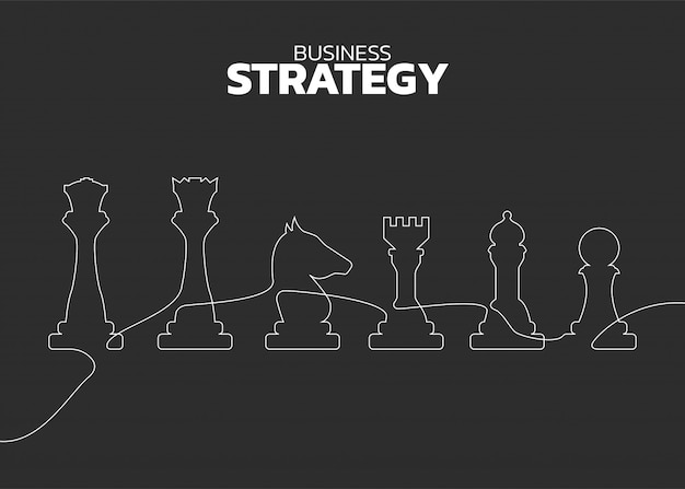 Vettore di linea silhouette sagoma di scacchi