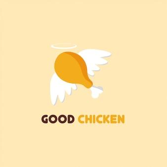 Vettore di logo chciken fritto.